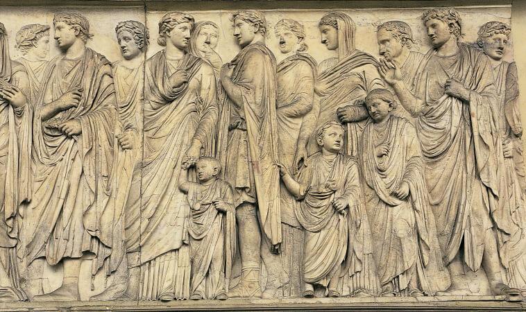 İmparator ve ailesi, Ara Pacis Muzesi, Roma