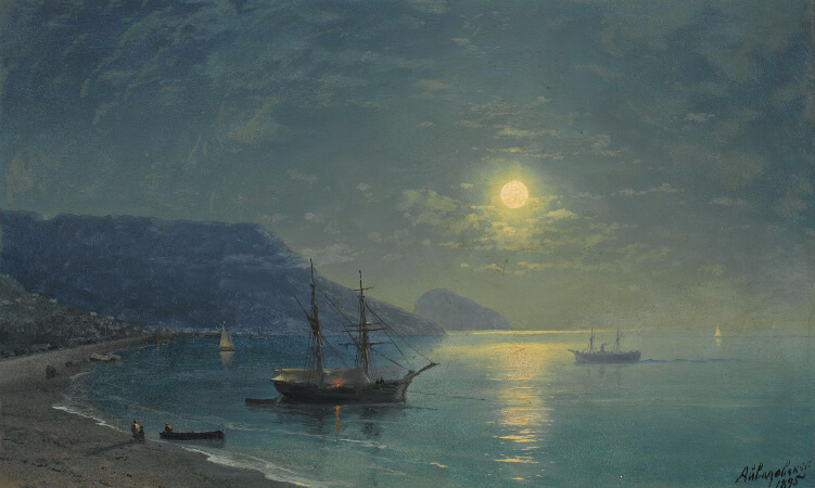 Ivan Konstantinovich Aivazovsky, Evening On The Crimea, 1895