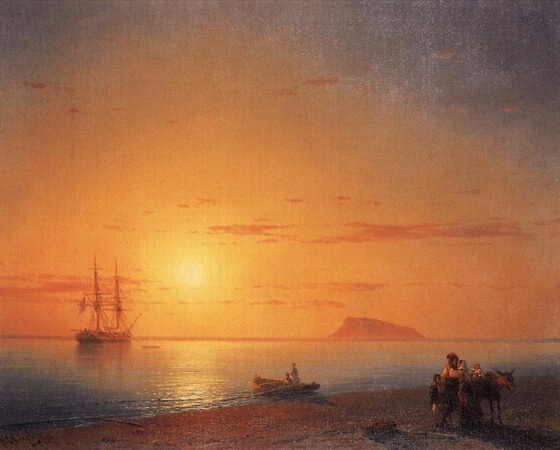Ivan Konstantinovich Aivazovsky, Farewell On The Seashore, 1868