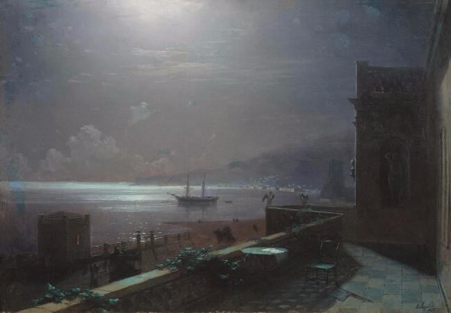 Ivan Konstantinovich Aivazovsky, Feodosia at Night, 1880
