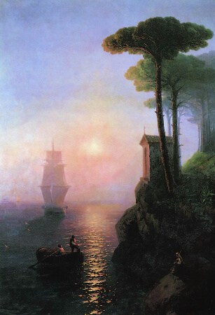 Ivan Konstantinovich Aivazovsky, Misty Morning In Italy, 1864