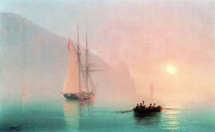 Ivan Konstantinovich Aivazovsky, Mount Ayu-Dag on a Foggy Day, 1853