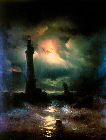 Ivan Konstantinovich Aivazovsky, Neapolitan Lighthouse, 1842