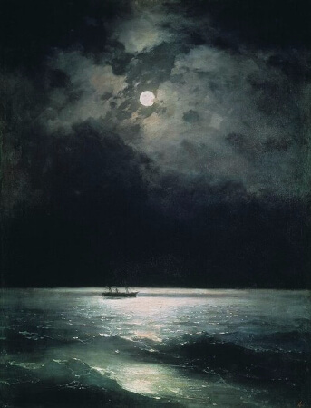 Ivan Konstantinovich Aivazovsky, Night On The Black Sea, 1879