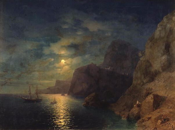 Ivan Konstantinovich Aivazovsky, Sea at Night, 1861