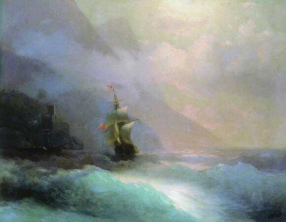 Ivan Konstantinovich Aivazovsky, Seascape, 1870