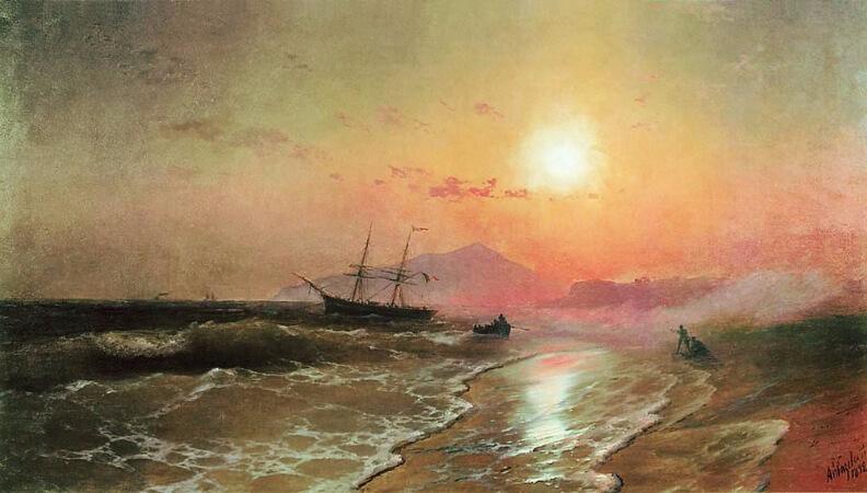 Ivan Konstantinovich Aivazovsky, The Island of Ischia, 1892