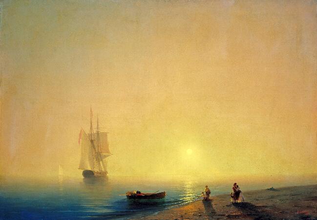 Ivan Konstantinovich Aivazovsky, The Seashore, 1851