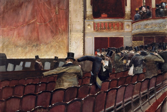 Jean Georges Beraud, Out of the Theatre