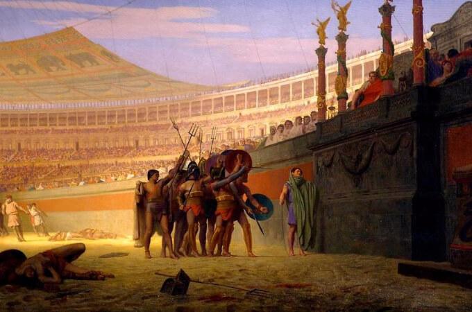 Jean-Leon Gerome, Ave Caesar Morituri Te Salutant, 1859