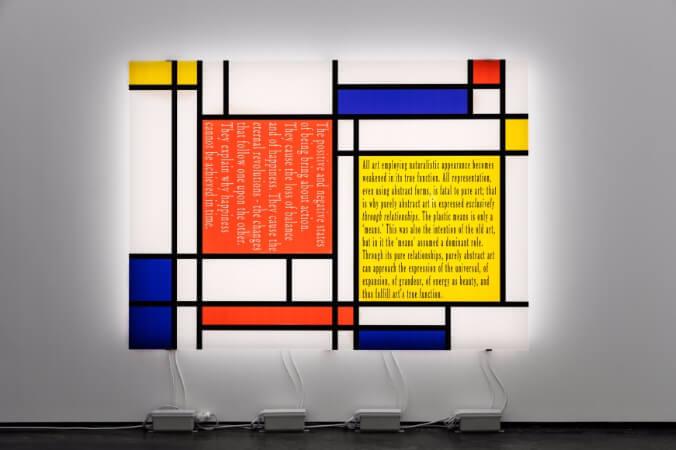 Joseph Kosuth, Mondrian's Work V, 2015