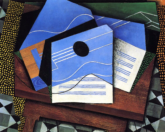 Juan Gris, Guitar On A Table, 1915