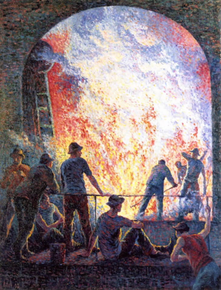 Maximilien Luce,  Steelworks, 1895