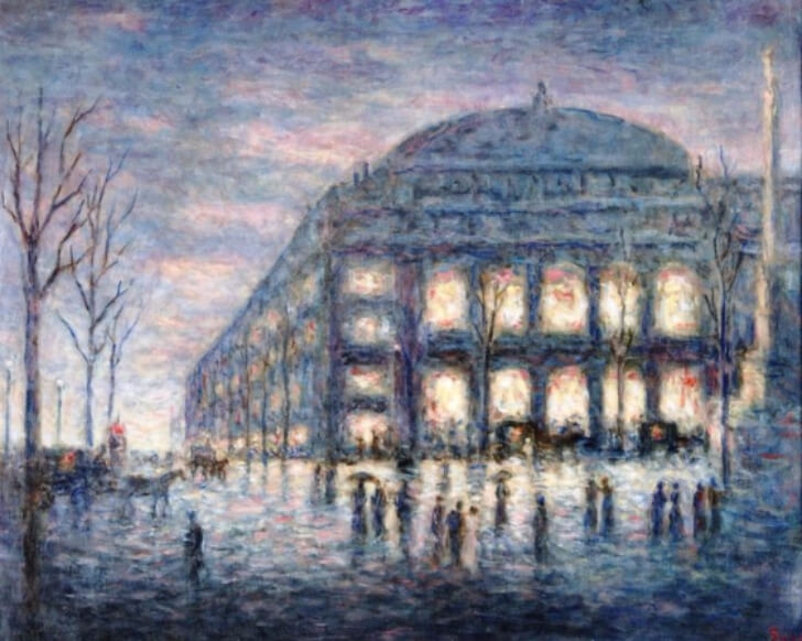 Maximilien Luce, View of the Theatre du Chatelet, 1900