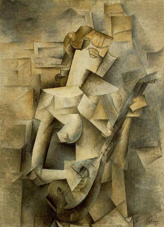 Pablo Picasso, Girl With Mandolin, 1910