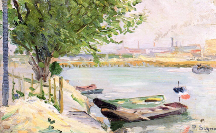 Paul Signac, Asnières (also known as The Ferryman's Boat), 1882