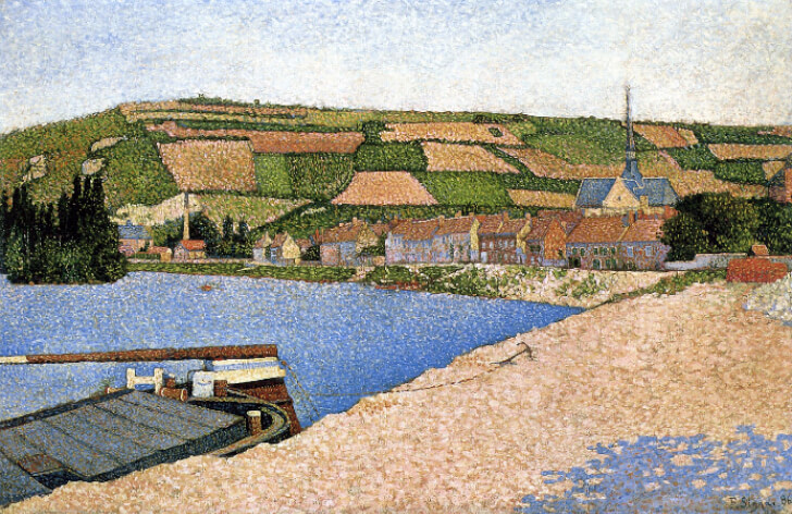 Paul Signac, Hillside From Downstream, Les Andelys, 1886