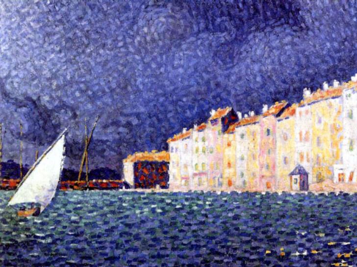 Paul Signac, Saint-Tropez, l'orage, 1895