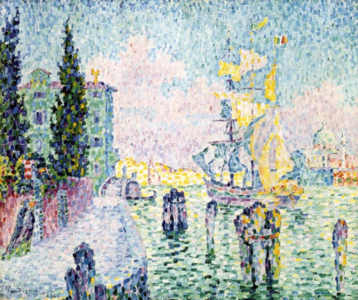 Paul Signac, The Green House Venice, 1905