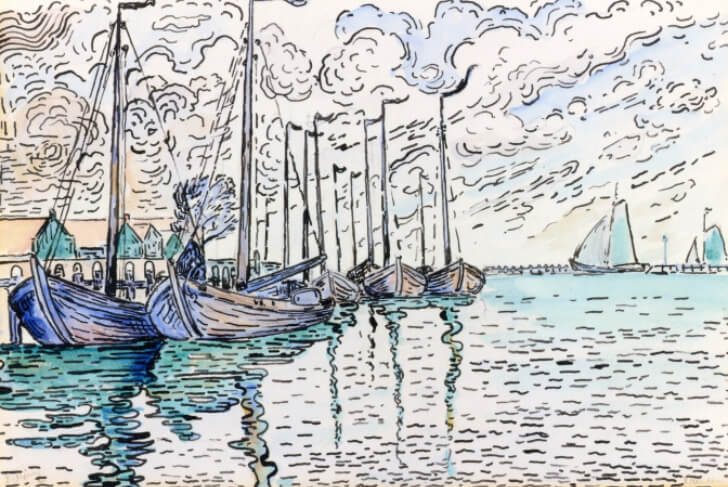 Paul Signac, Volendam, Fishing Boats, 1906
