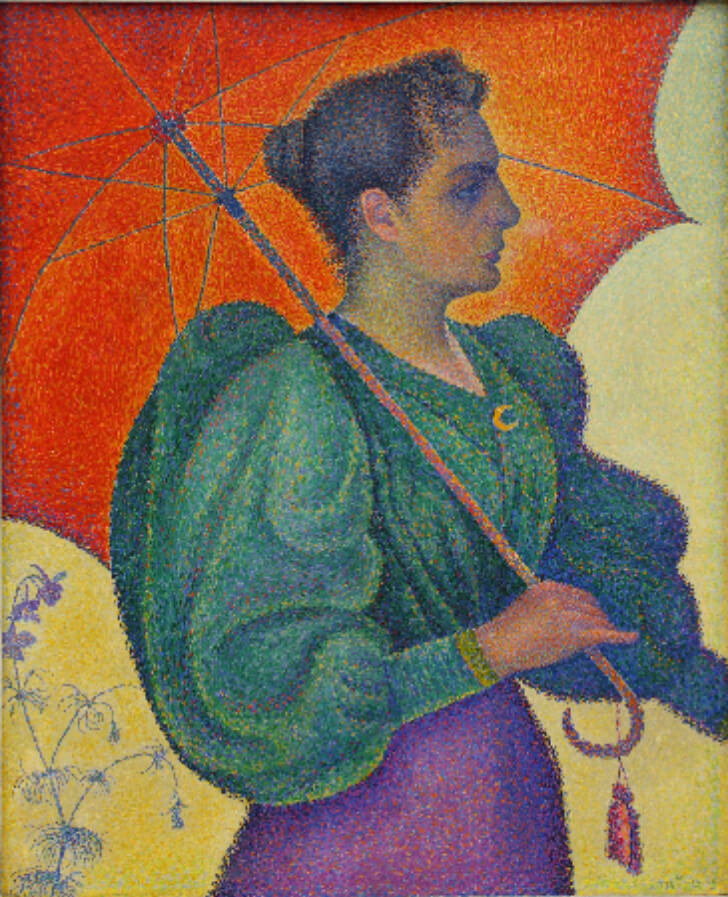 Paul Signac, Woman With A Parasol, 1893