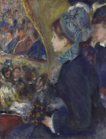 Pierre Auguste Renoir, At The Theatre (La Premiere Sortie), 1876