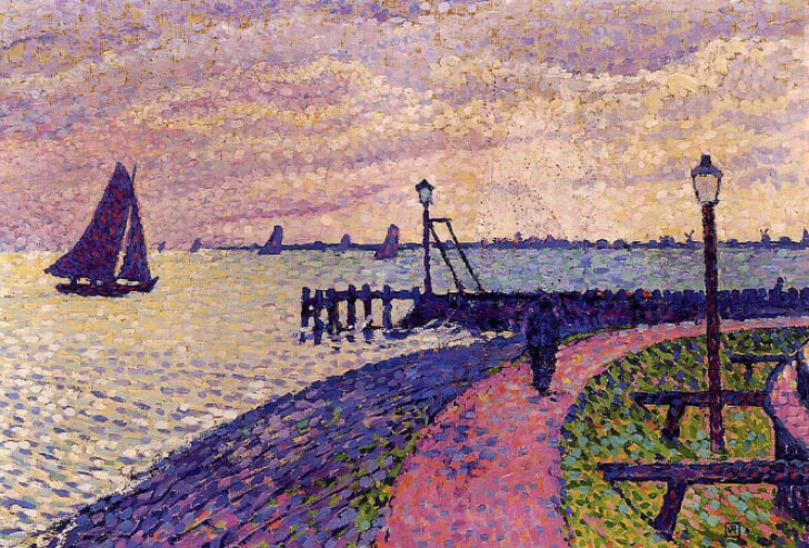 Théo Van Rysselberghe, Entrance To Volendam Harbour, 1896