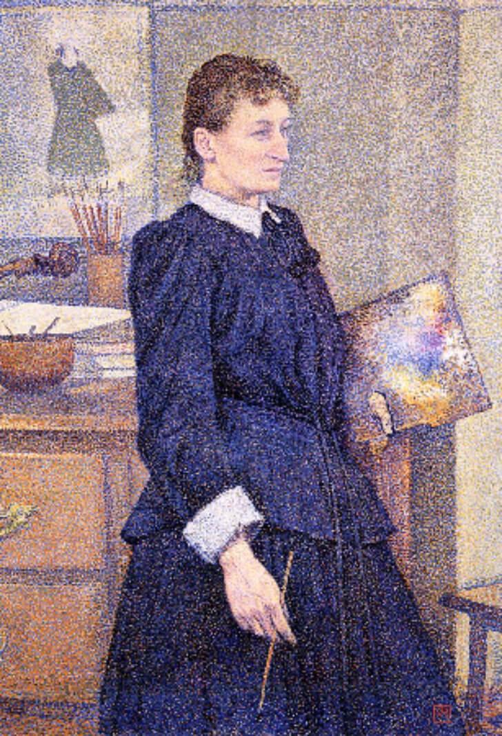 Theo van Rysselberghe, Anna Boch in Her Studio, 1893