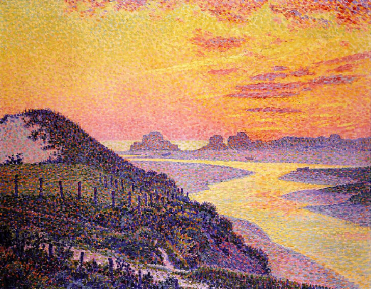 Theo van Rysselberghe, Sunset at Ambleteuse, 1899