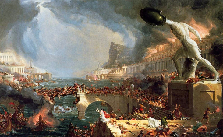 Thomas Cole, The Course of Empire Destruction, 1836