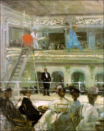 William Glackens, Hammerstein's Roof Garden, 1901