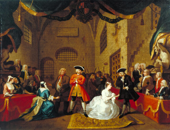 William Hogarth, A Scene from The Beggar's Opera VI, 1731