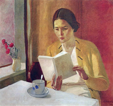 Alexander Deineka, Girl With A Book