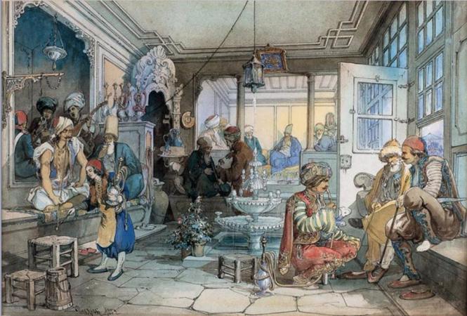 Amedeo Preziosi, A Cafe In Istanbul