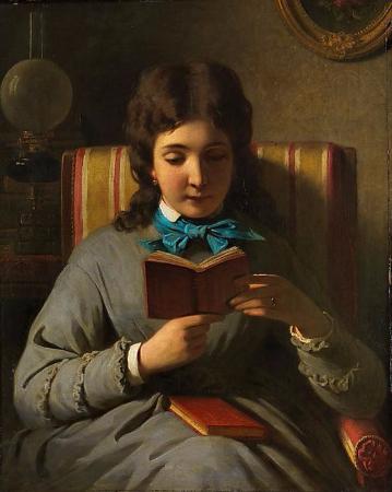 Anton Ebert, Lesendes Madchen