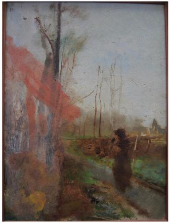 Auguste Rodin, Chemin de terre a Watermael en foret de Soignes, 1877