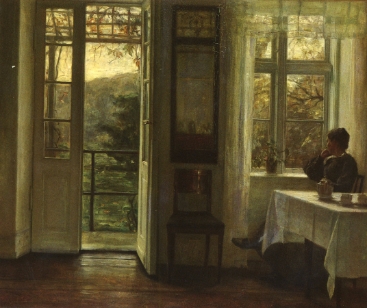 Carl Vilhelm Holsoe, At The Window