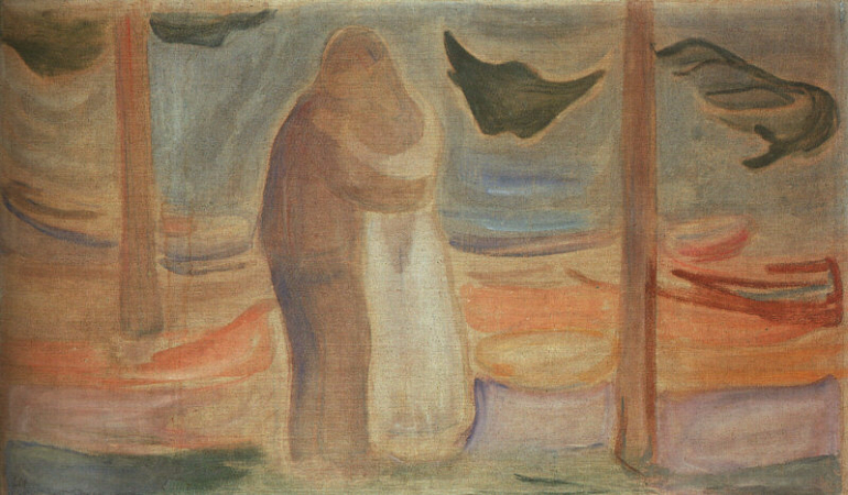 Edvard Munch, Couple On The Shore, 1906-7