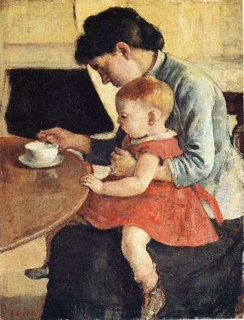 Ferdinand Hodler, Mother And Child, 1889