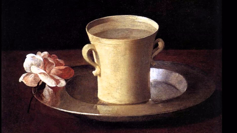 Francisco de Zurbaran, A Cup of Water and a Rose, 1630