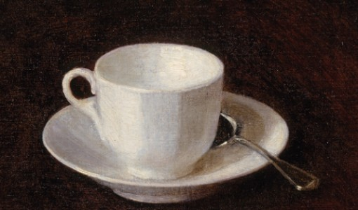 Henri Fantin-Latour, White Coffee Cup and Saucer, 1864