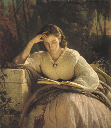 Ivan Kramskoy, Reading Woman (Portrait of Artist's Wife)