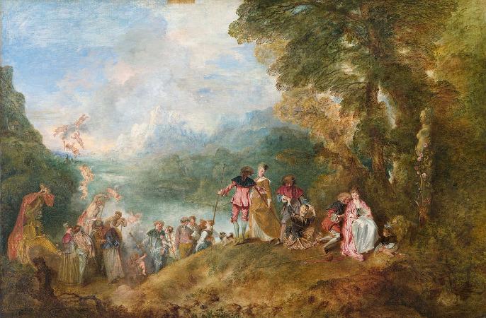 Jean-Antoine Watteau, L'Embarquement pour Cythere, 1717