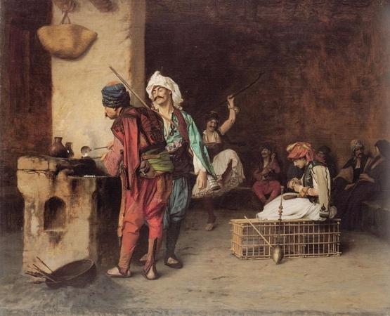 Jean Leon Gerome, Cafe House al Cairo, 1883