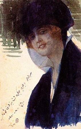 Mihri Musfik, Otoportre, 1920