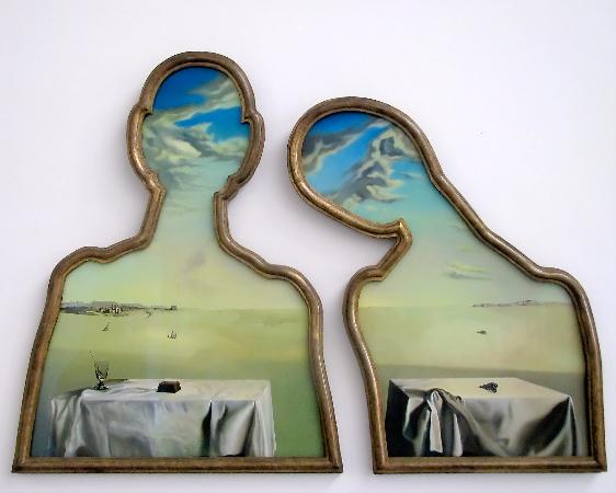 Salvador Dali, Couple aux tetes pleines de nuages, 1936
