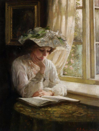 Thomas Benjamin Kennington, Lady Reading By A Window