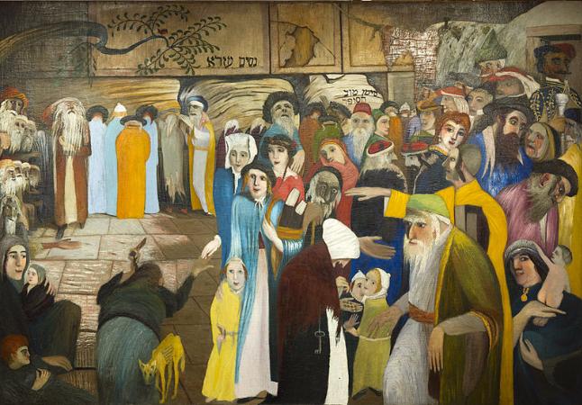 Tivadar Csontvary Kosztka, Cskt-panaszfal bejaratanal jeruzsalemben, 1904