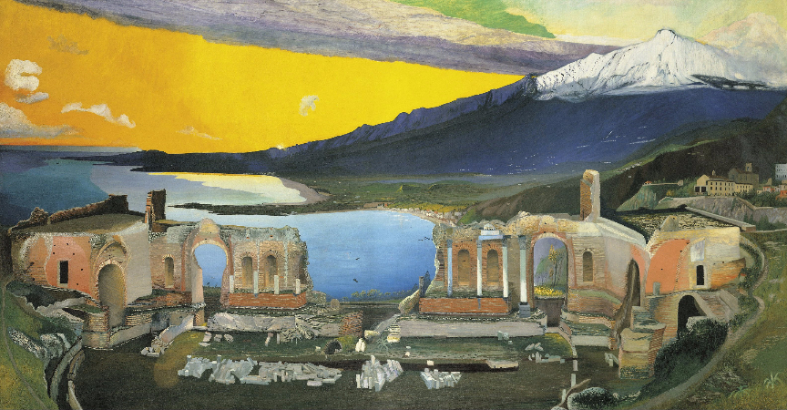 Tivadar Csontvary Kosztka, Ruins of the Greek Theatre at Taormina, 1904-5