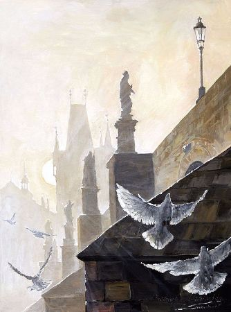 Yuriy Shevchuk, Prague Morning On The Charles Bridge